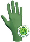 Gloves, Biodegradable Nitrile, SHOWA 6110PF, Green