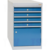 4-Drawer w/ 1-Door Cabinets