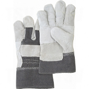 Better Quality Split Cowhide Patch Palm Fitters Gloves