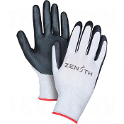 Black Lightweight Nitrile Foam Palm Coated Gloves