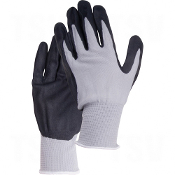 Breathable Lightweight Nitrile Foam Palm Coated Gloves