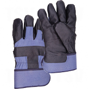 Cotton Fleece Grain Cowhide Furniture Leather Gloves