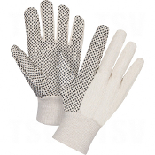 Cotton Canvas Dotted Palm Gloves