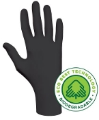 Gloves, Biodegradable Nitrile, SHOWA 6112PF, Black