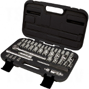 "41-Piece 1/4"" and 3/8"" Drive S.A.E./Metric Socket Set"