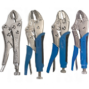 4-Piece Curved Jaw Locking Pliers w/Wire Cutter Set